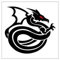 Новогодние трафареты. шаблон дракона