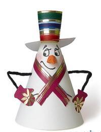 Снегурочка своими руками из картона
