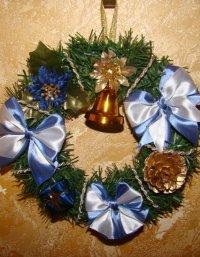 Рождественские венки своими руками из ниток
