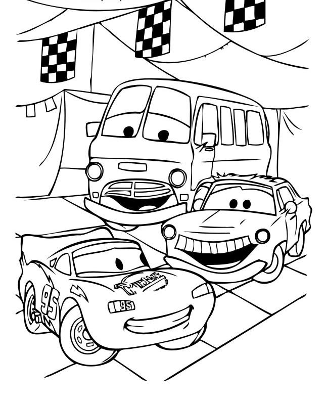 Раскраски для мальчиков «Тачки» — Пузик-карапузик — сайт о ...
