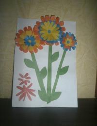 """Открытка на 8 Марта своими руками """"Цветы"""""""