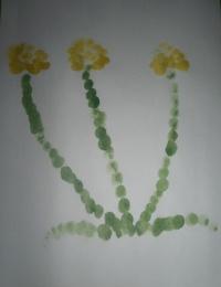 Рисуем пальчиками цветы