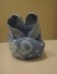 Как сделать зайца из полотенца?