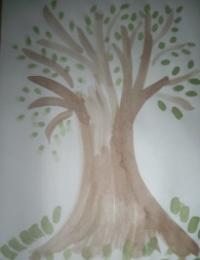 Весенние рисунки пальчиками с ребенком