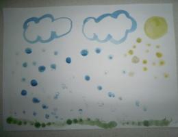 """Рисуем пальчиками """"Летний дождь"""""""