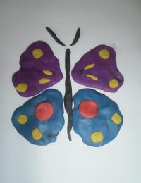 """Поделка """"Бабочка"""" из пластилина"""