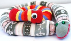 """Поделка """"Змея"""" на Новый Год 2013 для ребенка"""