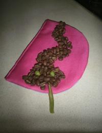 """Поделка """"Змея"""" из зерен кофе"""