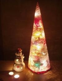 Как сделать светящуюся елку для ребенка на Новый Год