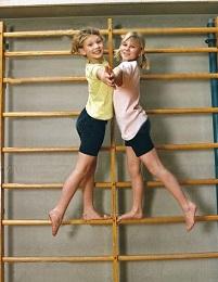Комплексные упражнения на шведской стенке