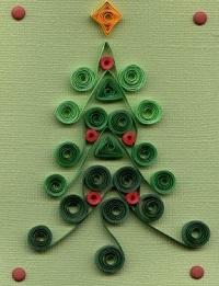 Новогодний квиллинг елка