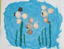 Поделка из ракушек - аквариум