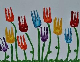 """Рисунок с детьми """" Тюльпаны"""""""